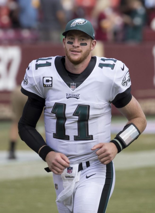File:Carson Wentz (36981688672).jpg by Keith Allison from Hanover, MD, USA is licensed under CC BY-SA 2.0