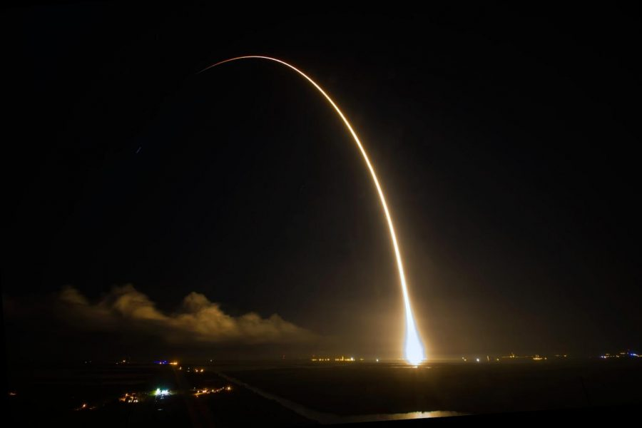 One of SpaceX's previously launched rockets -picture taken by John Studwell/AmericaSpace